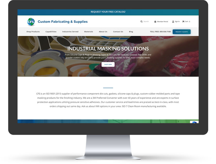 Custom Fabricating & Supplies | Manufacturing Magento 2 Ecommerce Case Study
